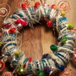 Christmas wreath with handspun