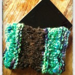 How I Knit an Art Yarn iPad Sleeve