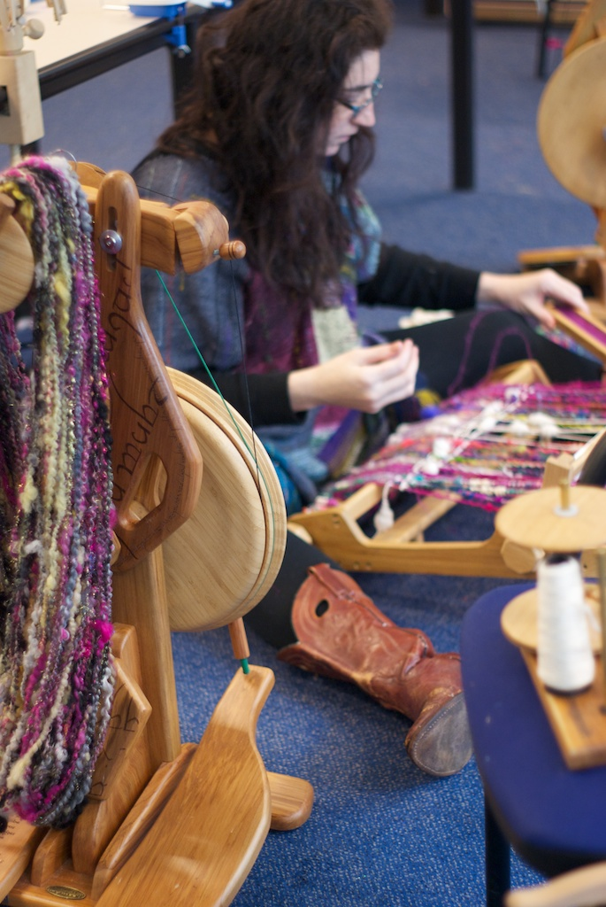 Esther weaves and the One Wheel with Spinning