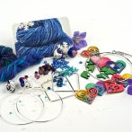 Handspun Yarn Crochet Hoop Earring Kits!